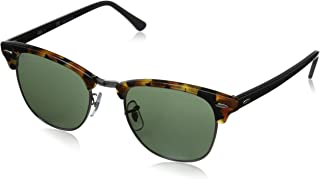 Clubmaster Sunglasses in Spotted Black Havana RB3016 1157 51