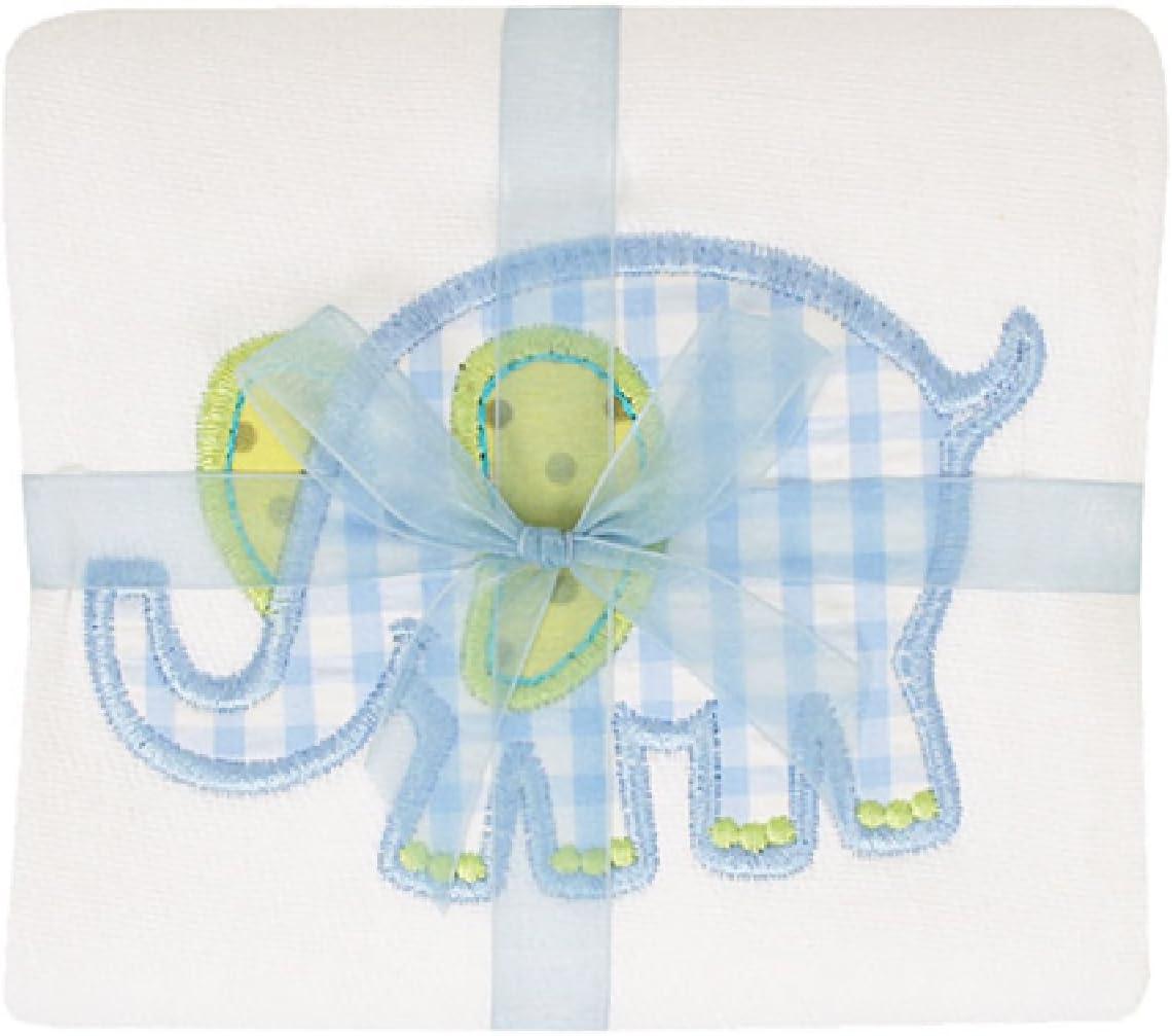 3 Marthas Boutique Applique Burp Louisville-Jefferson Arlington Mall County Mall Blue Pad Elephant Cloth
