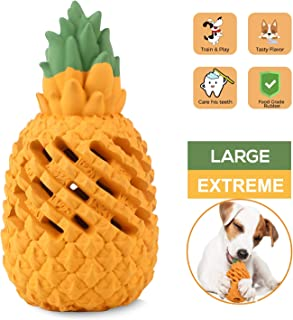WENXUAN Dog Chew Toys for Aggressive Chewer Large Breed Small Breed Dog Puppy, Dog Toothbrush Indestructible Dog Chew Toy for Medium Dogs Pineapple Shaped Tough Dog Dental Teeth Cleaning Chew Toy