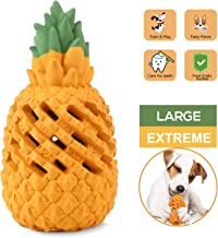 WENXUAN Pineapple Dog Chew Toys for Aggressive Chewer- Lifetime Replacement Guarantee, Indestructible Interactive Treat Toys for Large Medium Small Dogs - Fun to Chew, Chase and Fetch