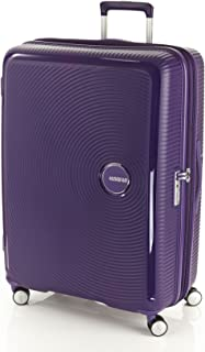 American Tourister Curio Hardside Spinner Luggage 80cm with TSA Lock - Purple
