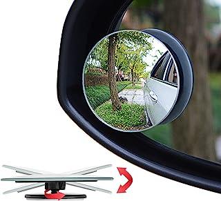 "آینه نقطه ای کور Ampper، 2 ""شیشه عقب بدون قاب بدون درز، آینه عقب آینه، بسته 2"