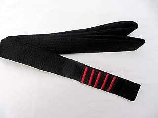 Oro Barra 320cm para Hombre//Mujer Karate Todos los Estilos de Artes Karate Master Kempo Kick Boxing Goju Ryu Shito-Ryu Shotokan Shihan 3 Dan Bar Negro Cintur/ón Satinado
