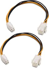 Cable Matters 2-Pack ATX Power Supply 4-Pin CPU Male to Female Extension Cable - 8 Inches