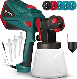 Scuddles Paint Sprayer, 1200 Watt High Power HVLP Home, and Outdoors Includes 5 Nozzle,..