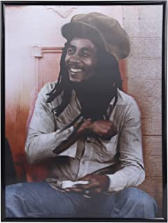 Pangoo Art 3D Bob Marley Poster Wall Decor Lenticular Posters & Pictures with Poster Sticker for Living Room, Bedroom, Hotel, Dining Room Holographic Pictures 12x16 Inch Ready to Hang