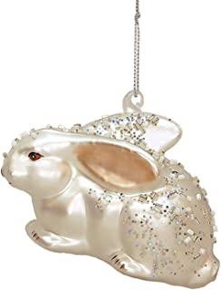Pink Ear Rabbit Glass Ornament Mark Roberts