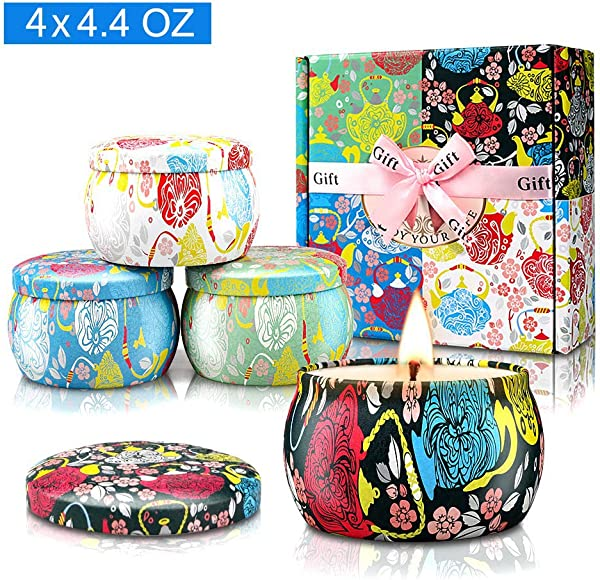 Yinuo Candle Potpourri Relax Deep Sleep Scented Candles Gardenia Lavender Jasmine And Vanilla Natural Soy Wax Portable Travel Tin Fragrance Gifts For Women For Stress Relief And Aromatherapy