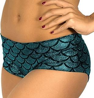 JFEELE Mermaid Shorts Women's Fish Scale Shorts