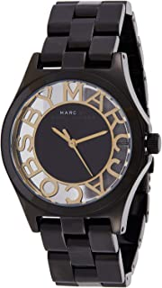 Marc by Marc Jacobs Women's Black/White Dial Stainless Steel Band Watch - MBM3255