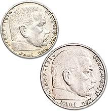 1936-1939 German Silver 2 & 5 Reichsmark Set