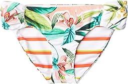 Costa De Prata Reversible Side Shirred Hipster Bikini Swimsuit Bottoms