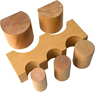 6 Piece Non-Marring Wooden Block Dapping Set Jewelry Making Metal Shaping Bending Forming Punch U-Channel Set