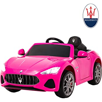 Uenjoy Maserati GranCabrio 12V Electric Kids Ride On Cars Motorized Vehicles for Girls with Remote Control, MP3 Player, Light,Pink