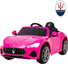 Uenjoy Maserati GranCabrio 12V Electric Kids Ride On Cars Motorized Vehicles for Girls with Remote Control, Wheels Suspension, MP3 Player, Light, Pink