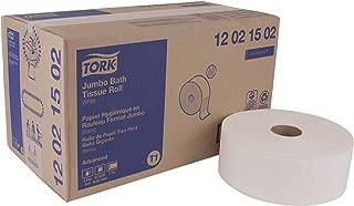 Tork Advanced 12021502 Jumbo Bath Tissue Roll, 2-Ply, 10