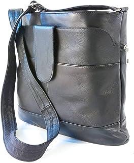 Bonamaison Women's TRDB100002 Leather Handbag, Black
