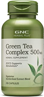 Sponsored Ad - GNC Herbal Plus Green Tea Complex 500mg, 100 Capsules, Metabolism Support