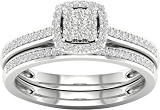 diamond halo bridal sets