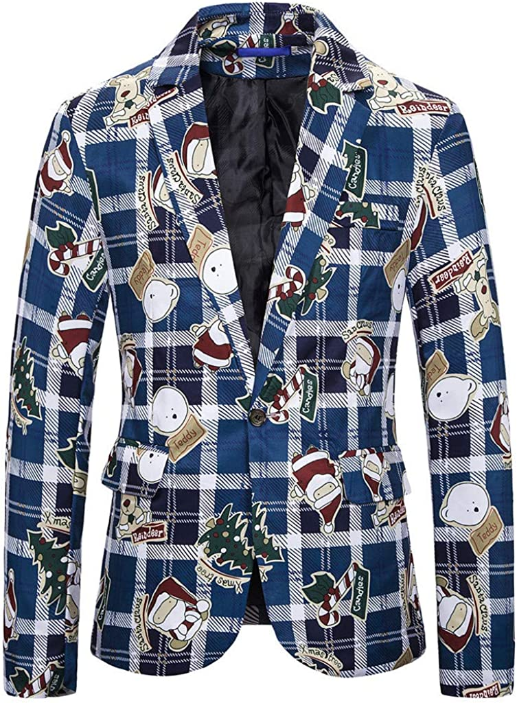 Fashion/Ugly Xmas Costumes Prints Jacket Winter Long Sleeve Blazer Dress Coat
