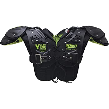 Schutt Sports Y-Flex 4.0 All Purpose Shoulder Pad, Black/Neon Green, Medium