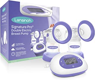 Lansinoh Signature Pro Double Electric Portable Breast Pump with Tote Bag and More