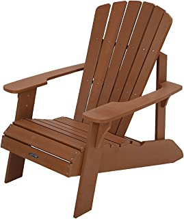 Lifetime Weather-resistant UV Treated Durable Polystyrene Simulated Wood Construction Adirondack Chair