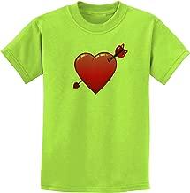 TooLoud Shot Through The Heart Cute Childrens T-Shirt
