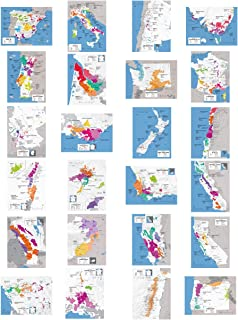 Wine Folly - Complete Wine Map Poster Print Set of 24 Major Wine Producing Countries/Regions (12
