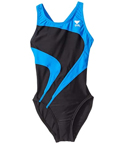 TYR Alliance T-Splice Maxback (Black/Blue) Women