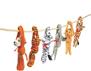 Fun Express - Plush Long Arm Zoo Animals W/Velcro Paws - Toys - Plush - Long Arm Plush - 12 Pieces