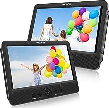 WONNIE 2020 Lecteur DVD Portable Voiture 2 Ecrans Enfants Vidéo avec Appuie-tête de..