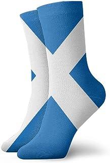 N\A, Niños Niñas Crazy Funny Scottish Flag Calcetines de vestir de novedad linda