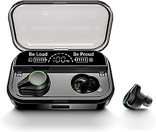 Bluetooth イヤホン HOT SMART ワイヤレス イヤホン Bluetooth5.1 IPX7防水 CVC8.0ノイズキャンセリング AAC対応 LEDディスプレイ電量表示 4000mAhモバイルバッテリー機能付き Type-C充電...