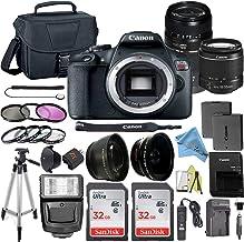 Canon EOS Rebel T7 DSLR Digital Camera with 24.1 MP CMOS Sensor, EF-S 18-55mm & Tamron AF 70-300mm Lens Kits + 2 Pack SanD...