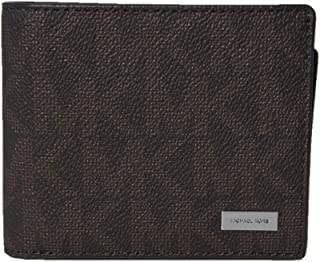 Michael Kors Jet Set Mens Billfold with Passcase Wallet (Brown)