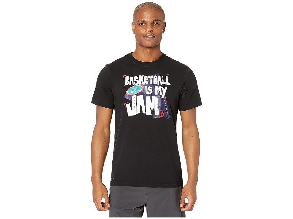 19bb9e86 Nike Dry Tee Basketball Jam (Black/Black/Game Royal) Men's T Shirt