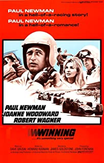 Winning From Left Paul Newman Joanne Woodward Robert Wagner 1969 Movie Poster Masterprint (24 x 36)