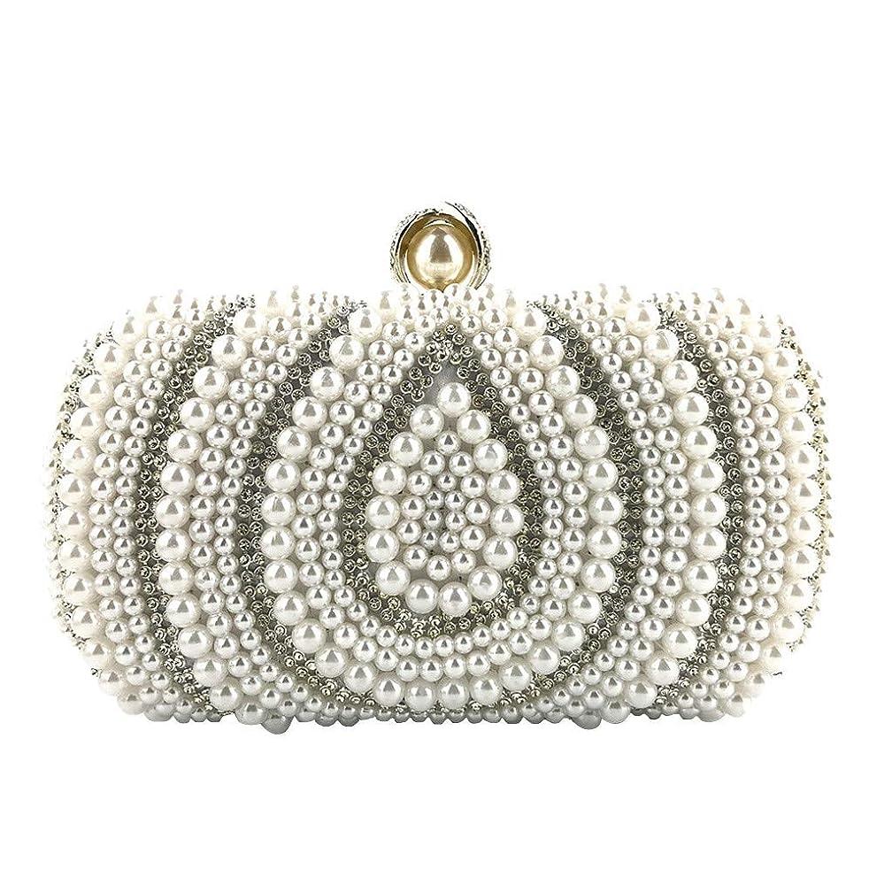 Oucan Women Crystal Beaded Clutch Evening Chain Crossbody Bags Party Handbag