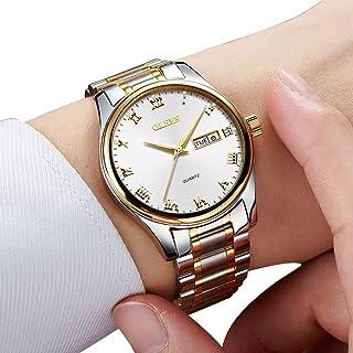 Amazon Watch, Men's TOP 1 Watch,Men's Weekender&Calendar Black/Brown Strap,Mens Watches,Classic Casual Watch with Black/Blue/White Dial,Waterproof 30M