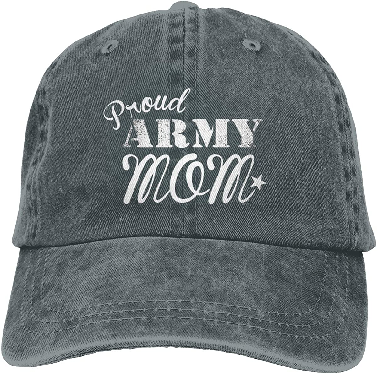Proud Army Mom Mom Hat Baseball Cap Washed Denim Cotton Adjustable Hat Dad Hat Great Gift for Mother's Day