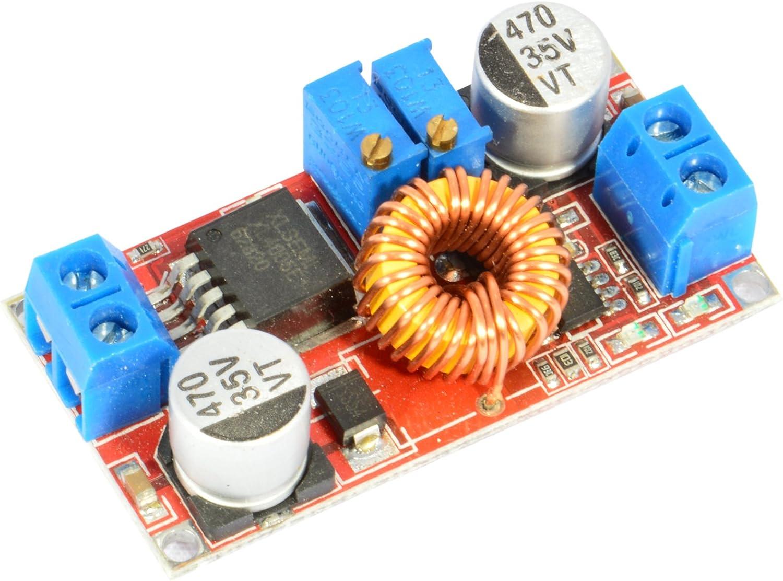JacobsParts XL4015 5A DC Buck Step Down Voltage Converter Constant Current Adjustable Power Module (2-Pack)
