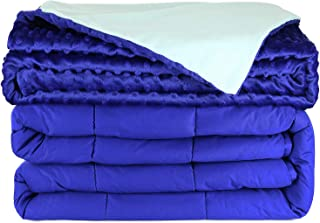 Clara Clark Weighted Blanket for Adult - with Reversible Mink Cover 100% Cotton with Glass Beads, 15 Lbs, 60x80 inches, Ro...
