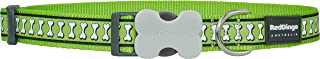 Red Dingo 25mm Reflective Dog Collar, Lime Green, Large