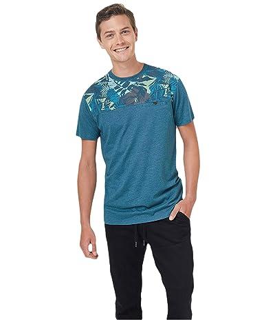 tentree Ketti T-Shirt (Star Gaze Blue Heather/Star Gaze Blue/Melati) Men