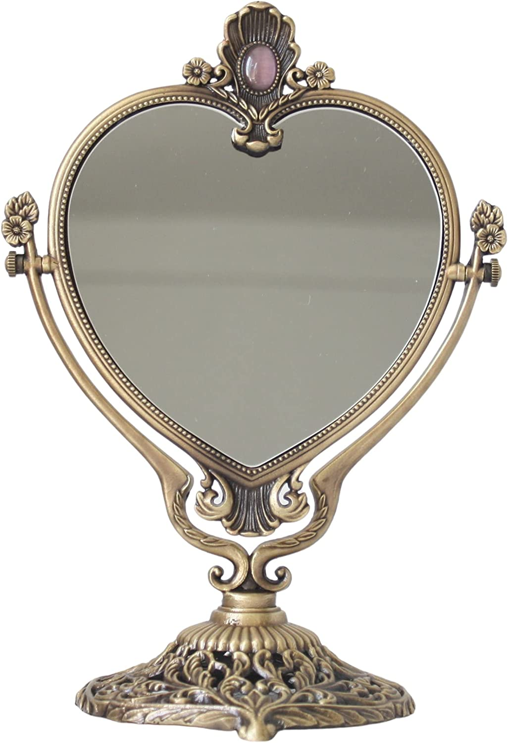 SEHAMANO Vintage Heart Shaped Vanity Mirror Feathe Sales of SALE items from new Max 59% OFF works with Embossed