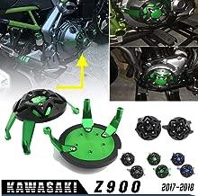XX eCommerce Motociclo Coperchio del coperchio del telaio di protezione del motore in alluminio per K-a-w-a-s-a-k-i Z900 Z900 17 del 2017-2018 18 Verde