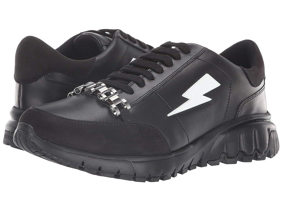 Neil Barrett Metal Runner Sneaker (Black) Men