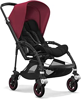 Bugaboo Bee5 Complete Stroller, Black/Ruby Red - Compact, Foldable Stroller for Travel and Urban Life. Easy to Steer on City Streets & Tight Turns! The Most Popular Lightweight Stroller!