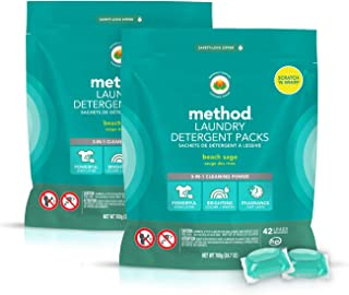 Method Laundry Detergent Packs, Beach Sage, 24.7 Fl Oz (2 Count)